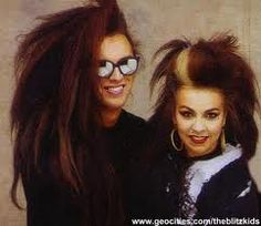 Ok can we pleas take a minute to look at how adorable this pic really is? Pete Burns and Lynne in the early 80s. You can tell they loved each other.