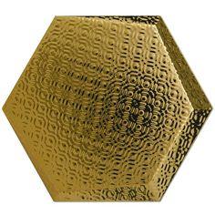 Kolekcja Hexagono Cuna - płytki ścienne Dec Cuna Oro 17x15