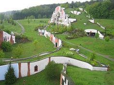 Rogner Bad Blumau, in eastern Austria, Friedensreich Hundertwasser via decorology