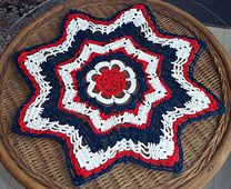 Ravelry: Stars  Stripes 15 inch doily pattern by Shirley Strand