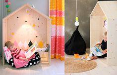 O quarto montessoriano: canto de leitura Montessori Bedrooms: reading corners