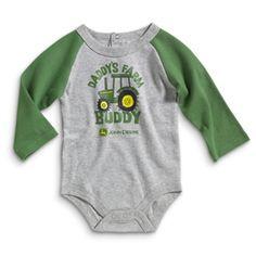 John Deere Newborn Boy's Onesie | WeGotGreen.com