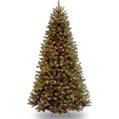 Pre-Lit Artificial Christmas Tree 9 Ft with Clear Lights North Valley Spruce  #NationalTree
