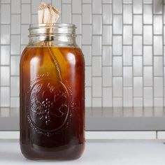 Cold brew coffee: add a cloth coffee filter to a mason jar and fill with coffee grounds (medium). Bloom first by wetting the grounds and letting them sit for 2 minutes. Pour cold water over the grounds and let steep overnight.  This plus 12 MORE Amazing Mason Jar Accessories (and smart ways to use them). #masonjar #ad #ebay