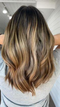 Balyage Long Hair, Balayage Hair Brunette With Blonde, Balayage Hair Blonde, Baylage, Brown Hair With Caramel Highlights, Brown Hair With Blonde Highlights, Hair Highlights, Light Brown Hair, Light Hair