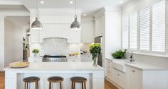 Our Hamptons style kitchen is built by Alby Turner and Son kitchens in Adelaide. It was inspired by all the beautiful Hamptons kitchens I've lusted over on Pinterest and I can't believe I now have one of my own!