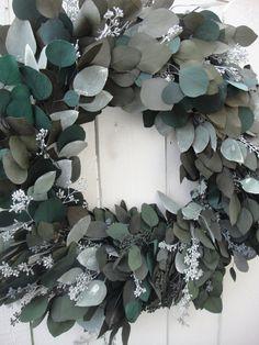 Eucalyptus Wreath   Seeded Eucalyptus Wreath   by donnahubbard, $95.00