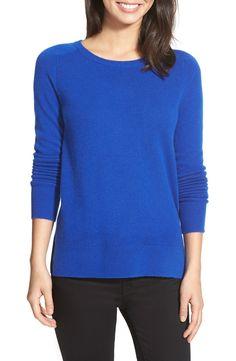 Halogen® Crewneck Lightweight Cashmere Sweater in CAMEL (Regular)