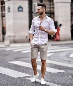 31 Trendy Summer Men Outfit with Short Pant - Mode man - Summer Outfits Men, Short Outfits, Casual Outfits, Summer Men, Men Summer Style, Summer Pants, Stylish Men, Men Casual, Mens Casual Summer Fashion