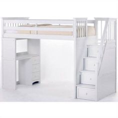Tween Loft Bed With Pullout Desk Sofa And Multi Functional Stairs Crafts Pinterest Tween