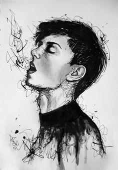 #expressive #ink #watercolor