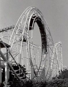 1960 THE BEATLES BAND 8X10 PHOTO AMUSEMENT PARK WOOD ROLLER COASTER BACKGROUND