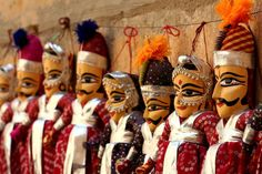 Indian Rajasthani puppets