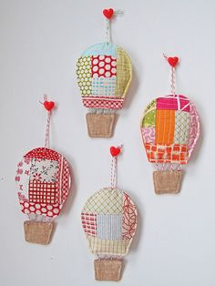 hot air balloon ornaments by Spotted Stone Studio {Krista}, via Flickr