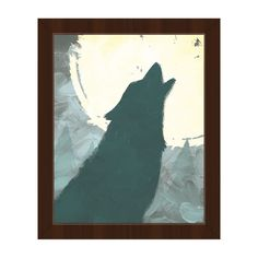Horizon 'Howling to the Moon' Framed Canvas Wall Art