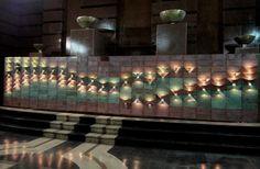Delightful nighttime design in lights and color. Lum panel, Santiago. QStudio design.