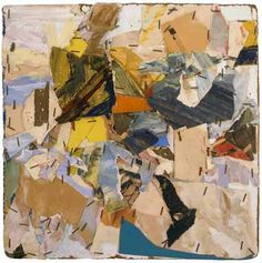 John Chamberlain  Untitled  ca. 1960  painted paper, staples, and mixed media collage on board  11 1/2 x 11 1/2 inches  29.2 x 29.2 cm
