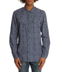 50% OFF DIESEL, Sulpher blue flower-print shirt