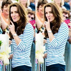 Catherine, Duchess of Cambridge at a yacht race in Auckland, New Zealand, April 2014