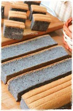 Ogura Cake Ketan Hitam - Black Glutinous Ogura Cake recipe