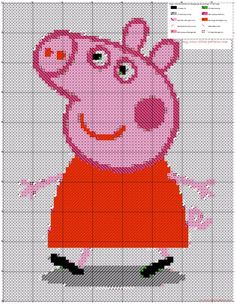 A simple pattern Peppa Pig made with Android App crosti - free cross stitch patterns simple unique alphabets baby
