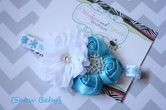 Winter Christmas baby headband Snow Baby by MudpiesandPigtails, $14.95