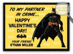 Batman Superhero Valentine's Day Card