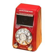 Rádio AM / FM Retrô em forma de Telefone de Disco Vintage Vermelho  http://loja.fulanaguacu.com.br