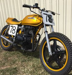 1978 Honda CB400 Street Tracker    Professionally painted with House of Kolor Kandy Gold, Valves adjusted, Carbs cleaned, jetted & synchronized. Bike comes with 2 seat options, 1st is a solo seat with rear Fiberglass cowl, 2nd is a 2 person brat type seat, seat changes with two levers and just clicks into place. Kick & Electric start.