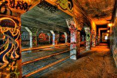 Krog St. tunnel graffiti shot by AJ Brustein.