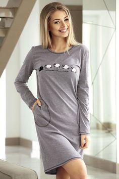 61,20 PLN | Długa szara pipiżamka | Long gray pajama | #gray #goodnight #dobranocka #pajama #BABELL #night #sleep