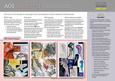 Edexcel GCSE Fine Art | AO1 Record | Observations, experiences and ideas which are appropriate to intentions.
