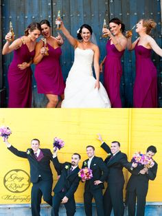 fun photo but the grooms party would be trying to steal our beer