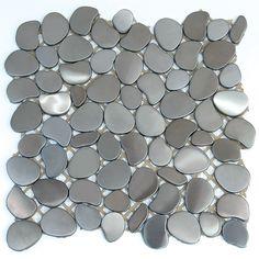 Solistone Tile - SOLISTONE Decorative Tile & Natural Stone // Freeform Metal Mosaics- Astro