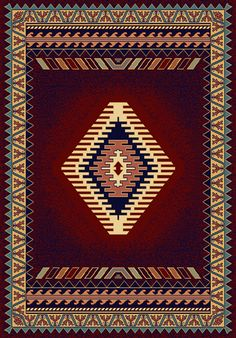 Hand woven rug of the Navajo people of southwest America