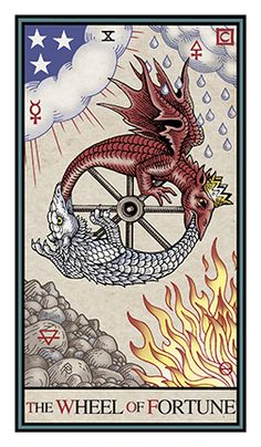 X. The Wheel of Fortune - Alchemical Renewed Tarot by Robert M. Place, Leisa ReFalo