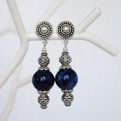 Blue lapis lazuli earrings - Deep Blue Sea Earrings