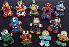 Superhero gingerbread men