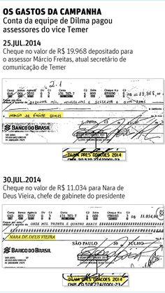 Os dados do TSE colidem com um dos argumentos da defesa de Temer contra o pedido de cassação da chapa pela qual foi eleito: a de que, com uma conta independente, ele não pode ser responsabilizado por eventuais irregularidades cometidas durante a campanha. Derrotados no segundo turno, o PSDB e seus coligados entraram com três ações de impugnação da chapa Dilma/Temer por abuso de poder político e econômico nas eleições.