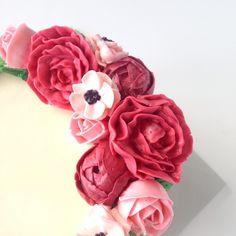 Pink buttercream flower cake — Eat Cake Be Merry