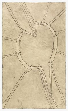 The Stretch, 2006, by Louise Bourgeois. Etching on paper. © The Easton Foundation/DACS