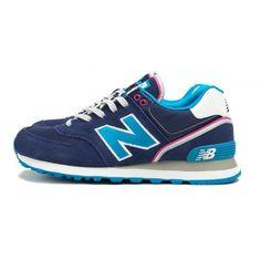 2017 New Balance WL574SJL Deep Blue Skyblue White NB Women 574 Shoes