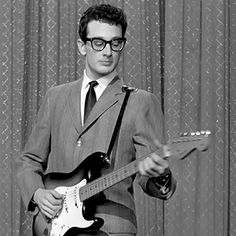"Buddy Holly turned a generation of future heroes – George Harrison, Eric Clapton, Jeff Beck – onto the guitar, with an elemental style: an antsy mix of country and blues that merged rhythm and lead; check the push-and-tease phrasing on ""It's So Easy,"" which echoes Holly's growl-and-hiccup vocals. Playing his Stratocaster and fronting a double-guitar-bass-and-drum quartet, Holly essentially invented the rock band."