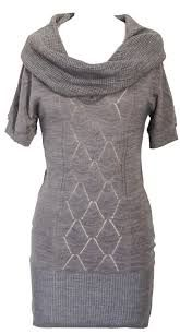 Light gray knit sweater dress. $34.00