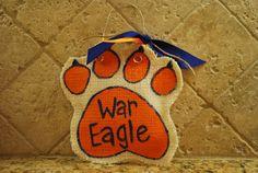 SEC burlap ornaments:)War Eagle