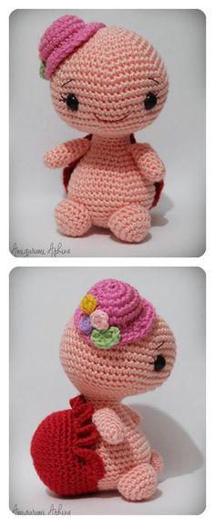 Tiny Mini Design: Amigurumi Hayvanlar Animals - Knitting and Crochet Crochet Crafts, Crochet Dolls, Yarn Crafts, Crochet Projects, Amigurumi Animals, Amigurumi Doll, Crochet Animals, Crochet Motif, Free Crochet