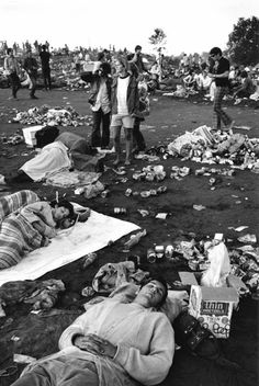 Life at Woodstock Festival 1969