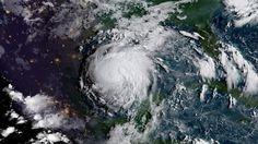 Hurricane Harvey over the Gulf Coast of Texas on August 24, 2017.