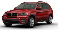 Vermilion Red BMW X5...my dream car in my fave color!