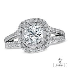 I've tagged a product on Zales: Vera Wang LOVE Collection 2 CT. Diamond Frame Split Shank Engagement Ring in White Gold Split Shank Engagement Rings, Diamond Engagement Rings, Vera Wang, The Bling Ring, Bling Bling, Diamond Stores, Thing 1, Ring Verlobung, Dream Ring